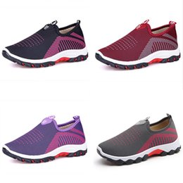 Chinese  Women U&A Sneakers Mesh Casual Shoes Slip On Flats Ladies Shallow Breathable Sports Running Walking Shoes Fashion Comfort Footwear B71903 manufacturers