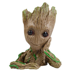 $enCountryForm.capitalKeyWord UK - Alikes Groot Action Figures Guardians of The Galaxy Flowerpot Baby Cute Model Toy Pen pot Best Gifts