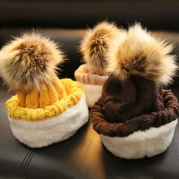 $enCountryForm.capitalKeyWord Australia - Winter Hats Boy Girl Warm Beanies Rabbit Fur Bow Caps Kids Knitted Caps Crochet Photo Props fit for 2-7years