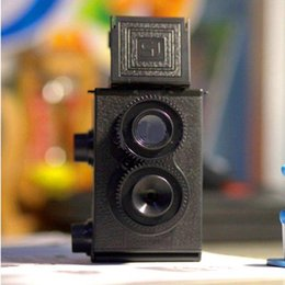 Wholesale Fashion Black DIY Twin Lens Reflex TLR mm Lomo Film Camera Kit Classic Play Hobby Photo Toy Gift for Children Students