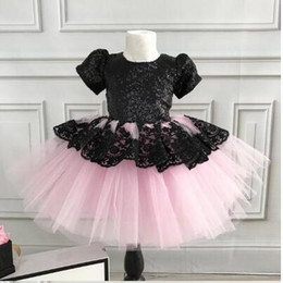 $enCountryForm.capitalKeyWord Australia - New Formal Kid Flower Girl Lace Voile Patchwork Tutu Dress Princess Bridesmaid Party Wedding Pageant Dress Clothes 6M-6T