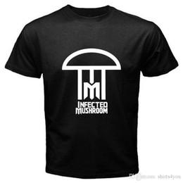 $enCountryForm.capitalKeyWord Australia - New Infected Mushroom *Simple Logo Electro Music Men's Black T-Shirt S To 3Xl Tee Shirt Homme Tshirt Men Funny