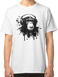 Red Monkey T Shirts Australia - Monkey Business White T-Shirt Tees Clothing white black grey red trousers tshirt