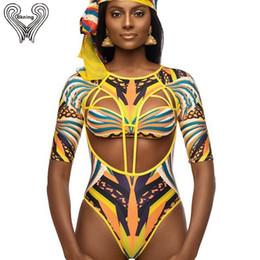 $enCountryForm.capitalKeyWord Australia - S-xxl Plus Size Swimwear African Swimsuit One Piece Push Up Padded Long Sleeve Swimsuits 2019 Sexy Swim Suits Women Monokini Y19051801
