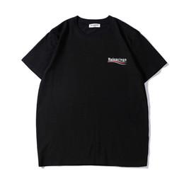 2019 ropa para hombre diseño de moda cuello redondo hombres camiseta manga corta camiseta suelta camiseta de algodón camiseta impresa camisas con alta calidad en venta
