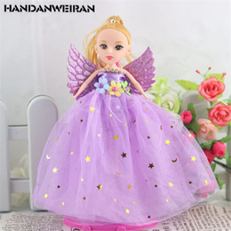 Birth Rings Australia - 1PCS 18 Cm New Style Confused Doll Stars Angel Wings Key Ring Children Toys for girl Gift 2018 hot selling color sent randomly