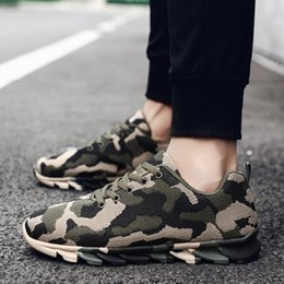 Wholesale Spring and Autumn New Men s Shoes Knife edge Camouflage Leisure Low top Sports Shoes Air permeable Running Student Travel Training Shoe