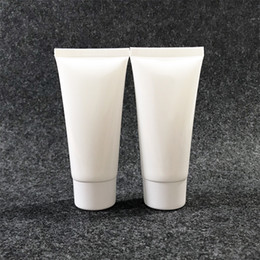 shampoo cream Australia - 100pcs 50g White Plastic Squeeze Bottle Shampoo Lotion Cream Empty Soft Tube Refillable Cosmetics Facial Cleanser Bottles