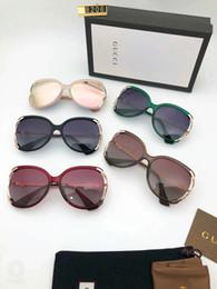 $enCountryForm.capitalKeyWord Australia - Luxury Sunglasses Designer Sunglasses Fashion Polarized Adumbral for Women Glass UV400 Brand with Box and Logo Little Bees G8206