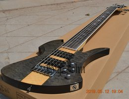 $enCountryForm.capitalKeyWord Australia - New Big John 6 Strings Electric Bass Guitar Quilted Maple Top Mahogany Body BJ-183