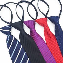 $enCountryForm.capitalKeyWord NZ - Men's tie 8CM lazy zipper tie Easy pull Business dress work Wholesale custom custom