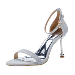 $enCountryForm.capitalKeyWord UK - 2019 Amazing Wedding Shoes Sequined Shining Mosha Silver Color 3.14 Inch Elegant Bridal Shoes Real Photos Sexy Party Pumps Ladies Sandals