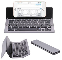 android tablet portable keyboard NZ - Portable Folding Keyboard,Traval Bluetooth Foldable Wireless Keypad for iphone,Android phone,Tablet,ipad,PC Foldable wireless keyboards