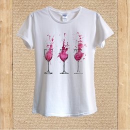 $enCountryForm.capitalKeyWord Canada - Details zu Red Wine Glasses Drinking Partying T-shirt 100% Cotton unisex women Funny free shipping Unisex Casual Tshirt top