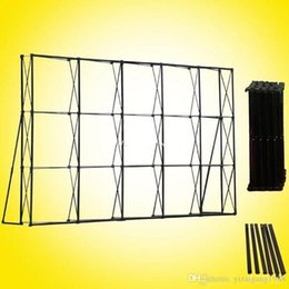Supplies For Party Decoration Australia - 20ft*10ft Wedding Flower Wall Stand Black Iron Folded Pipe Tension Banner Exhibition Display Stand For Wedding Party Decoration Supplies