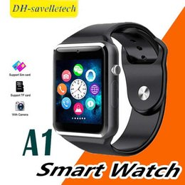 bluetooth smart watch sim Australia - A1 Bluetooth Smart Watch Sports Smart Watches Support SIM TF Card With Camera For Apple iPhone Samsung Android Phone