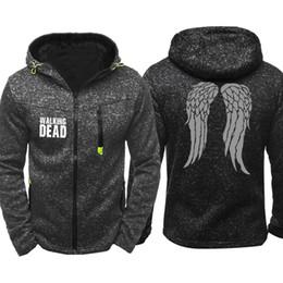Walking Dead Jacket Australia - Spring Autumn Walking dead Print Men Sports Casual Wear Hoodies Zipper Fashion Trend Jacquard Cardigan Jacket Coat Hip Hop Tracksuits