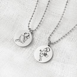 $enCountryForm.capitalKeyWord Australia - Chains Necklaces Pendant Necklaces Hot Circle Necklaces Ponyo on the Cliff Valentine's Day Couple gift Custom Logo Coin JJ19803