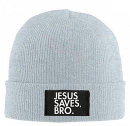 $enCountryForm.capitalKeyWord UK - Hot Sale winter Hat Cap Jesus Save Bro Beanie wool knitted men women Caps hats Skullies warm Beanies Unisex free shipping