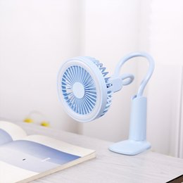 Discount small desk lights Portable USB Fan flexible with LED light 2 Speed Adjustable Cooler Mini Fan Handy Small Desk Desktop USB Cooling Fan car
