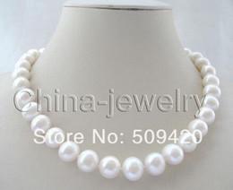 "$enCountryForm.capitalKeyWord NZ - women Fashion Jewelry Free Shipping>>>Beautiful 18"" 12mm white round freshwater pearl necklace"