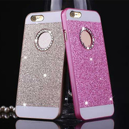 Black Diamond Powder Australia - New Shimmering Powder Hollow Out Rhinestone 6sp Hand Shell 7plus Diamond Bring Circle Colorful Protect Sheath 5s Second Gram Force Shell