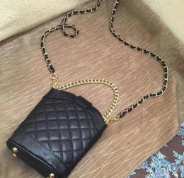 Phone cases chained bags online shopping - 2019New quilted chain caviar bag Phone bag small shoulder case chains fashion bag PU hot pattern hand case