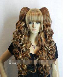 $enCountryForm.capitalKeyWord Australia - WIG LL<<< 00856 brown blonde color Long wavy COSPLAYStratified full wig 2 long Plaits