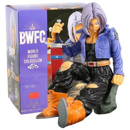 figma figures Canada - 12cm Dragon Ball Z Trunks BWFC Anime Action Figures Toys for Children Figurine Collector Goku Dragonball Super Saiyan Figma