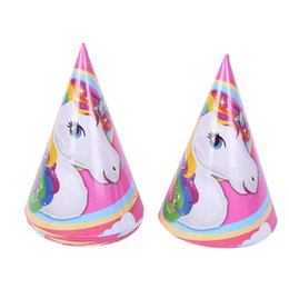 $enCountryForm.capitalKeyWord Australia - Birthday party decorations kids unicorn party theme girl child birthday 1 pack 6 PCS Paper hat supplies