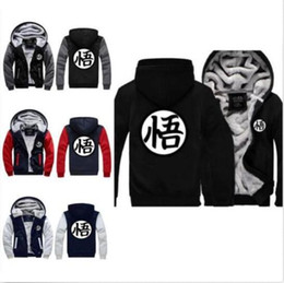 mixed color hoodie Australia - New Hot Goku Cosplay Jacket Sweatshirts Thicken Coat Zipper Hoodie