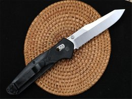 knife tooth UK - Butterfly 940 folding knife (half tooth) G10 D2 blade Axis Quick Open Folding knives Nylon Glass Fiber Handle Camping Pocket EDC knife