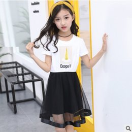 $enCountryForm.capitalKeyWord Australia - Girls Cool Dress Clothing Set 2019 New Summer Kids Clothes Sets Children Ice Cream Shirt Mesh Skirt Suits 2 Piece Size4-14 ly324