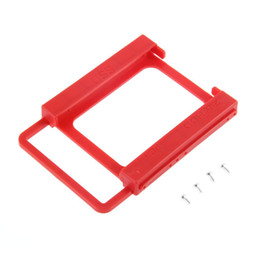 "rail mount bracket Australia - 2.5"" to 3.5"" SSD HDD Notebook Hard Disk Drive Mounting Rail Adapter Bracket Holder with Screws Red Wholesale 160"