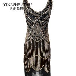 Gatsby 1920s Flapper Dress Women V Neck Cocktail Party Dress Vintage Sequin Fringe Party Summer High-end Banquet Clothing