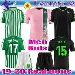 Vente en gros Maillot de football des enfants adultes 2019 2020 REAL à l'étranger 19 20 JOAQUIN MANDI BARTRA FEKIR CANALES FOOTBALL hommes jeunes maillots CHEMISES