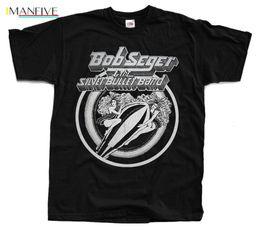 Bullet ship online shopping - BOB SEGER And the Silver Bullet T Shirt Black S XL Top Quality Cotton Casual Men T Shirts Men