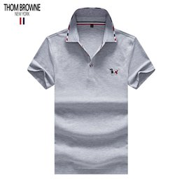 Wholesale THOM polo BROWNE designer shirt mens polos brand polo American famous designer shirts classic embroidery polos quality tee Counter summer