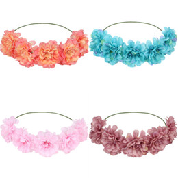 $enCountryForm.capitalKeyWord Australia - New seaside bride flower wreath hair band headdress creative beach headband headband foreign trade source hair accessories wholesale