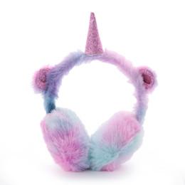 Children Winter Ear Muffs UK - 2019 New Fashion Winter Ear Muffs Kids Lovely Thicken Plush Unicorn Warmer Earmuffs Oreille New Ear Cover Oorwarmers Dames