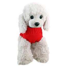 marvelous wedding dresses UK - Knitted Dog Jacket Sweater Pet Marvelous Jackets Vest Clothes Cat Puppy Coat Clothes Small Winter Warm Soft Costume Apparels