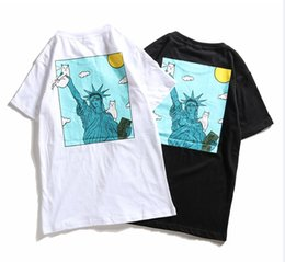 Discount liberty shorts - Summer Mens Designer T Shirts Fashion Brand Hip Hop Cat Short Sleeve T-Shirt Statue of Liberty Pocket Cat Short Sleeve L