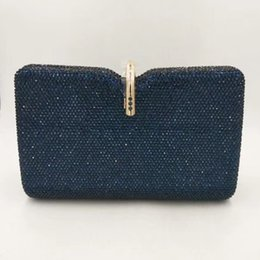 $enCountryForm.capitalKeyWord Australia - XIYUAN Dark Blue Color Crystal Clutches For Women Evening Clutch Handbags Fashion Lady Chain Crossbody Purse Female Phone Purses