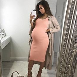819c7fbf4c265 Women Maternity Dresses Summer Elegant Bodycon Pink Sleeveless Sexy Casual Nursing  Dress Pregnant Clothes Vetement Femme 19may24
