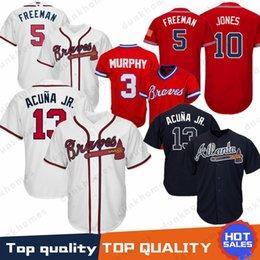 5fa60c3d3 mlb jerseys 2019 - 13 Ronald Acuna Jr. Atlanta Braves 10 Chipper Jones 44  Hank
