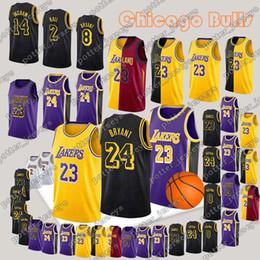 Los Angeles Jerseys Laker LeBron 23 James Kobe 24 Bryant Kyle 0 Kuzma Lonzo  2 Ball Kobe 8 Bryant Jersey 7642793a2
