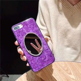 $enCountryForm.capitalKeyWord Australia - Glitter Mirror Phone Case for iPhone X XS MAX XR Green Purple Case for iPhone 7 8 Plus Gold Foil Red Luxury Cover Fashion