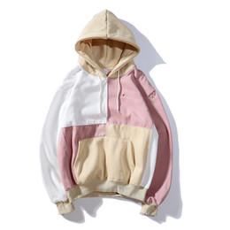 Wholesale sections sweatshirt hoodies online – oversize Fashion champions mens hoodies designer trend brand man hoodie Street hip hop male pullover Thick section tops selling splice sweatshirt