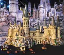 plastic castle building blocks UK - Lepinblocks 16060 Harry Movie Series 71043 Hogwarts Castle Set Building Blocks Bricks House Model Christmas Toys CX200613