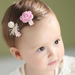 Hair Clip Cover Baby UK - 2pcs set Cute Children Hair Clip Hair Accessories Headwear Baby Flower Bow Kids Baby Girls Hairpins Full Cover Clips